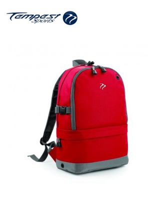 Tempest Sports Red/Grey Backpack