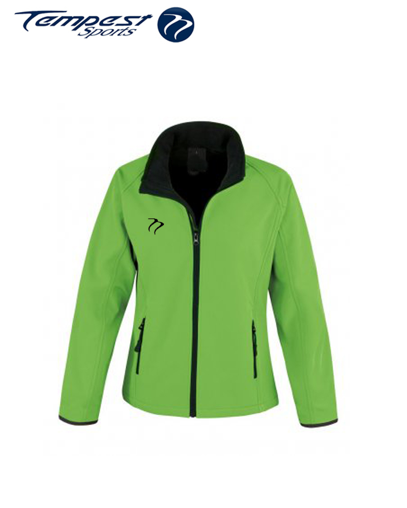 Umpires Women's Green Black Soft Shell Jacket
