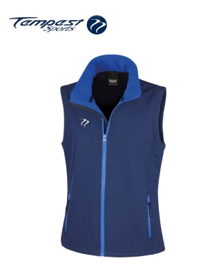 Tempest Navy Royal Soft Shell Gilet