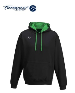 Tempest Lightweight Black Green Hooded Sweatshirt