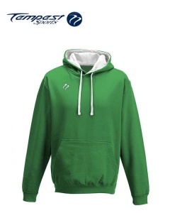 Tempest Lightweight Green White Hooded Sweatshirt