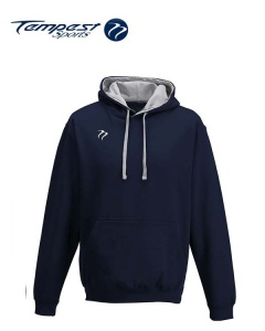 Tempest Lightweight Navy Heather Hooded Sweatshirt