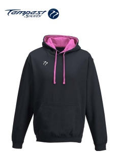 Tempest Lightweight Navy Pink Hooded Sweatshirt