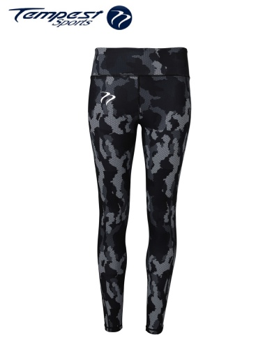 Tempest Women's performance Hexoflage leggings - Charcoal