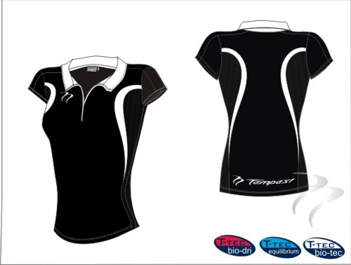 12 Evo Style Women's Black White Playing Shirt lycra