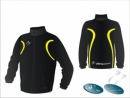 Evo Style Black Yellow Unisex Splash Jacket