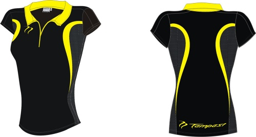 26 Evo Style Women's Black Yellow Playing Shirt lycra[1]