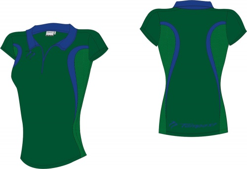 18 Evo Style Women's Dark Green Royal Playing Shirt lycra