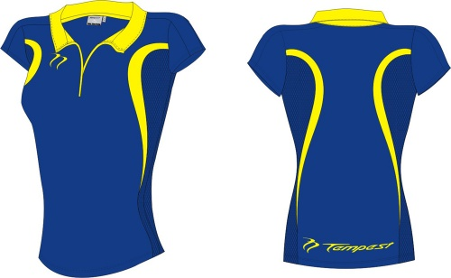 20 Evo Style Women's Royal Yellow Playing Shirt lycra