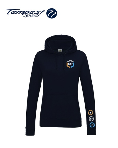 GTF Lightweight Womens Oxford Navy Hooded Sweatshirt