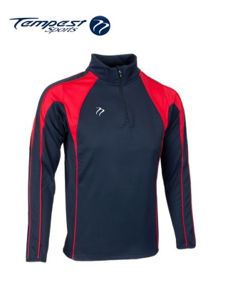 Navy Red Half Zip Midlayer