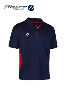 Tempest CK Navy Red Training Polo Shirt