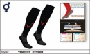 Tempest Unisex Extreme B Style Black Red Socks