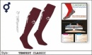 Tempest Unisex Classic Style Maroon White Socks