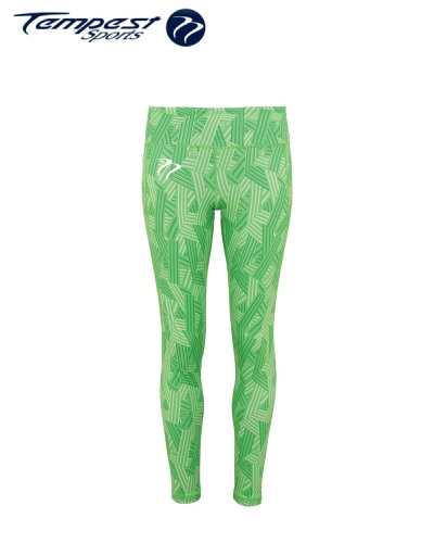 Tempest Women's performance crossline leggings full-length - Green