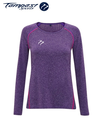 Tempest Women's performance 'laser cut' scooped top - Purple