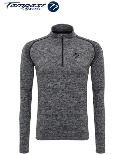 Tempest Grey Melange Seamless Midlayer