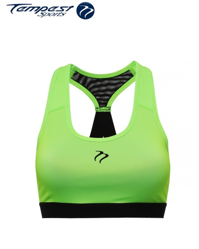 Ladies Lime Green/Black Crop Top