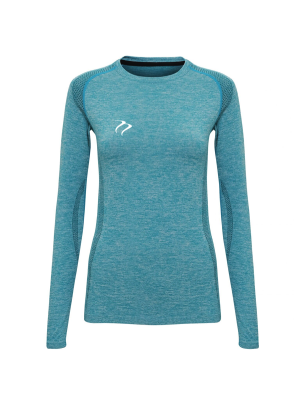 Tempest Women's seamless '3D fit' multi-sport performance long sleeve top Turquoise