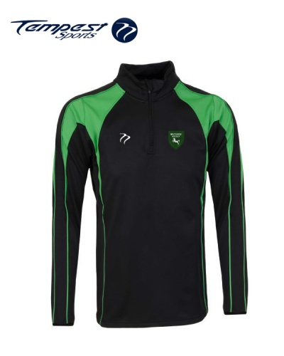 Wiltshire CK Black Green Half Zip Midlayer