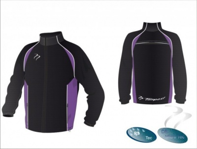 X-Tec Style Black White Purple Unisex Splash Jacket
