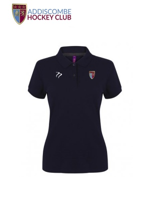 Addiscombe Womens Navy Polo Shirt