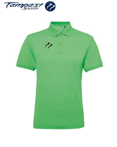 Poly/Cotton Mens Hockey Umpires Lime Shirt
