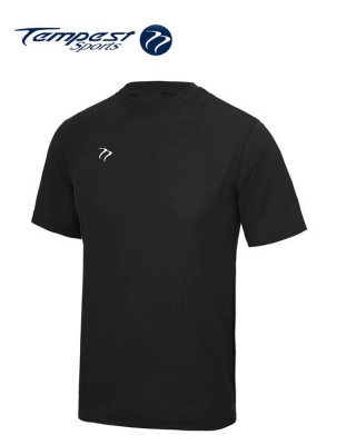 Tempest Lightweight Black Mens Training Shirt