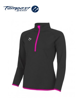 Tempest Black Pink Half Zip Womens Midlayer