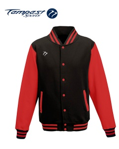 Tempest Varsity Black Red Jacket