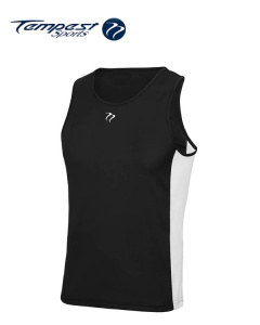 Tempest Black White Men's Training Vest