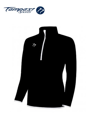 Tempest Black White Half Zip Womens Midlayer