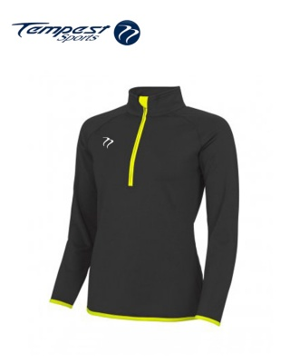 Tempest Black Yellow Half Zip Womens Midlayer