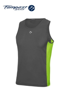 Tempest Charcoal Lime Men's Training Vest