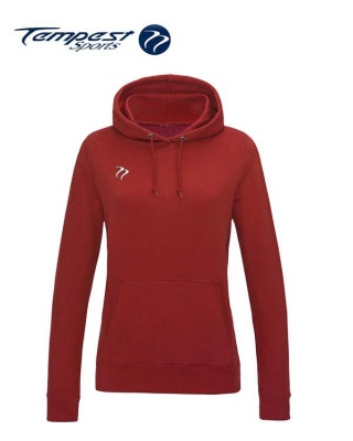 Tempest Lightweight Ladies Fire Red Hooded Sweatshirt