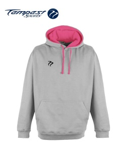 Tempest Lightweight Grey Pink Hooded Sweatshirt