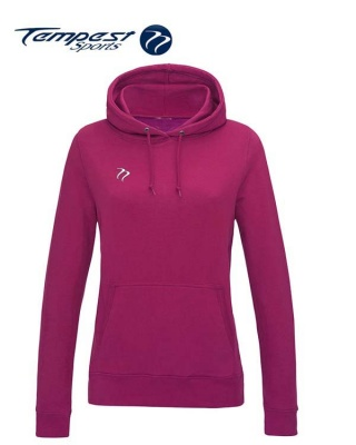 Tempest Lightweight Ladies Hot Pink Hooded Sweatshirt