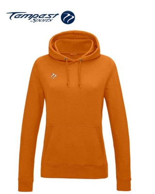 Tempest Lightweight Ladies Orange Hooded Sweatshirt