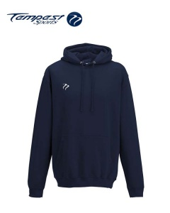 Tempest Lightweight Oxford Navy Hooded Sweatshirt