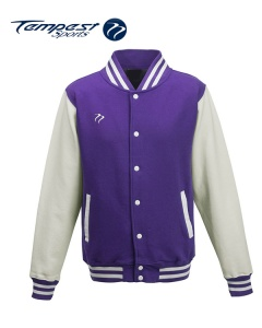 Tempest Varsity Purple White Jacket