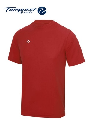 Tempest Lightweight Black Red Training Shirt