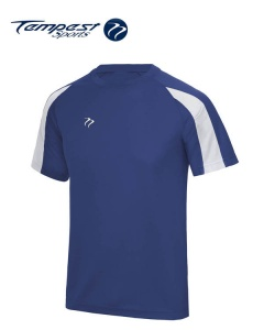 Tempest Lightweight Royal White Mens Training Shirt