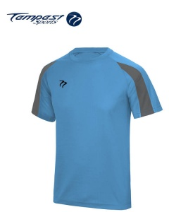 Tempest Lightweight Sapphire Blue Grey Training Shirt