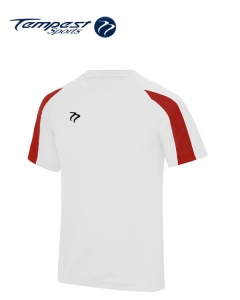 Tempest Lightweight White Hot Red Mens Training Shirt