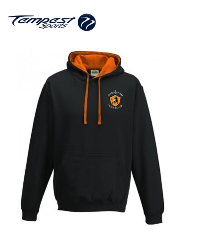 Birmingham HEMA Unisex Lightweight Black Orange Hooded Sweatshirt