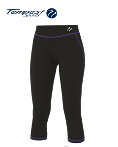 Tempest Black Purple Women's Capri Pant
