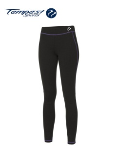 Tempest Black Purple Women's Leggings