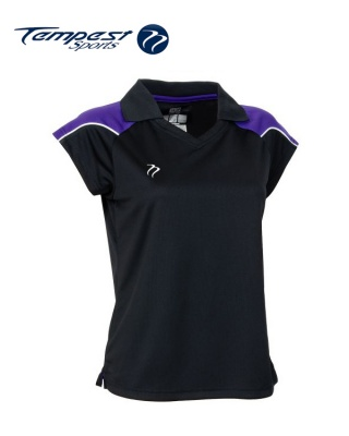 Tempest CK Womens Black Purple Playing Shirt