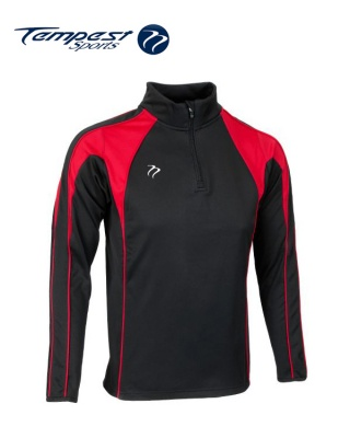 Black Red Half Zip Midlayer