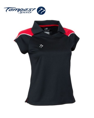 Tempest CK Womens Black Red Playing Shirt